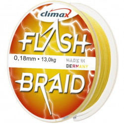 Fir textil Climax Flash Braid, galben fluo, 100m