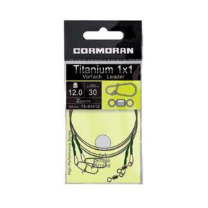 Struna Titanium 1x1/ 20cm / 8kg / 2buc/plic Cormoran