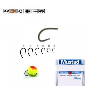 Carlig BR.forjat EGG CADDIS pentru musca Mustad