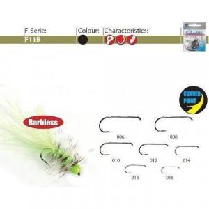 Carlige forjate pentru musca F11B black 25 buc/ plic Gamakatsu