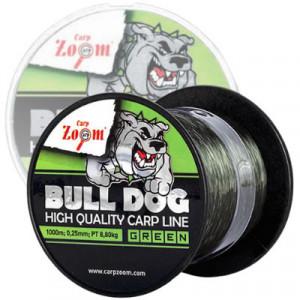 Fir Carp Zoom Bull-Dog Carp Line, Dark Green, 1000m