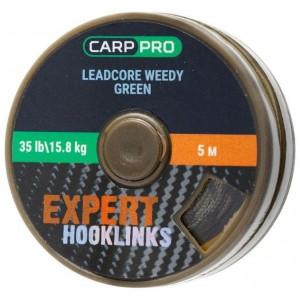 Fir Leadcore Carp Pro Coated Hooklink, verde, 5m
