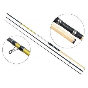 Lanseta fibra de carbon Cyclone Match 3903  / 3,90m / 5-25g / 3 tronsoane Baracuda