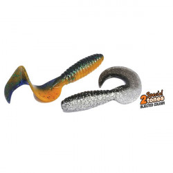 Naluca Fun Tail Grub Black Pumpkin 85mm, 10buc/plic Rapture