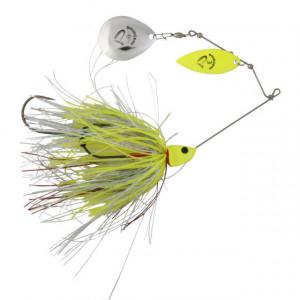 Spinnerbait Savage Gear Da Bush, Yellow Silver Holo Flame, 14cm, 21g