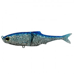 Swimbait Sub Kicker Blue Chrome 18cm, 1 buc/plic Biwaa