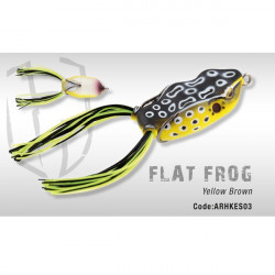 Flat Frog Yellow Brown Herakles