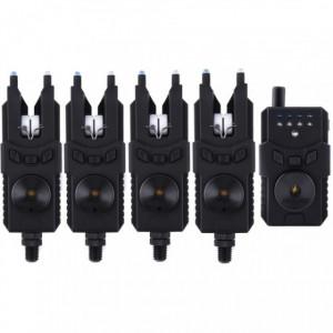Set 4 avertizoare cu statie Prologic SMX Custom Black WTS Blue