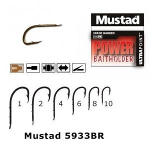 Cirlig bronz, forjat, revers, 2 spini 10 buc/ plic  (M.5933BR) Mustad