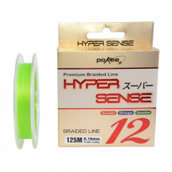 Fir textil Pokee Hyper Sense Super PE 12x, Lime Green, 125m