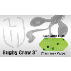 "Grub  Rugby Craw 3"" 7.6cm Charteteuse Pepper  Herakles"