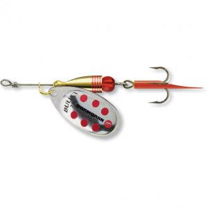 Lingurita rotativa Cormoran Bullet, Silver Red Dots, nr. 1, 3g