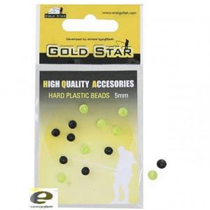 Bilute Artificiale Plastic 3mm Gold Star
