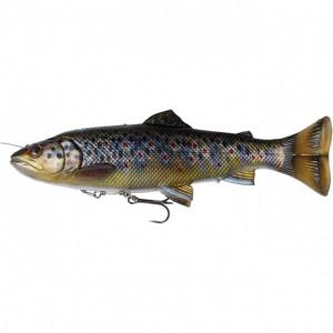 Shad Savage Gear 4D Line Thru Pulsetail Trout, 16cm, 51g Brown