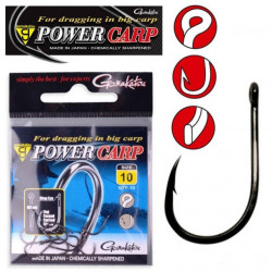 Carlige Gamakatsu Power Carp Ring Eye Black
