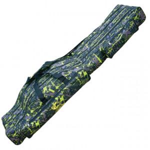 Husa lansete Baracuda B46, camuflaj, 4 compartimente, 130cm