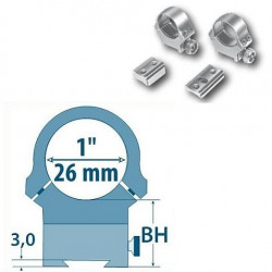 Prindere fixa D= 26mm/ H= 13,5mm Argo