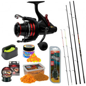 Set pescuit Benzar Classic Method Feeder, Lanseta + Mulineta + Nada + Fir + Montura + Matrita