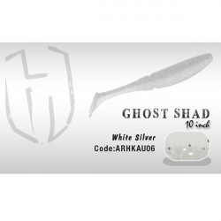 Shad Ghost 10cm White / Silver Herakles