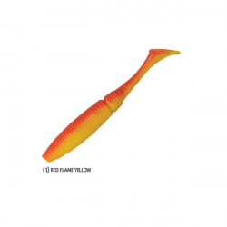 Shad Power Shad Dual Red Flame Yellow 11.5cm, 6buc/plic Rapture