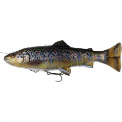 Shad Savage Gear 4D Line Thru Pulsetail Trout, 16cm, 51g Brown