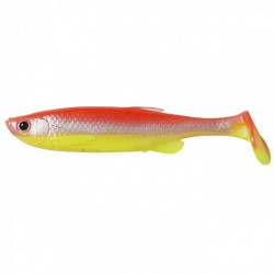 Shad Savage Gear Fat Minnow T-Tail YR Fluo, 9cm, 4buc