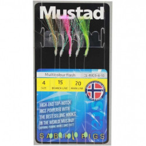 Taparina Mustad Multicolour Flash, 5buc
