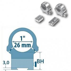 Prindere fixa D= 26mm/ H= 18,5mm Argo