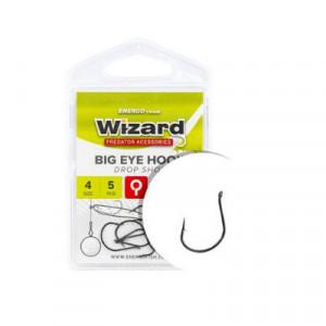 Carlige Wizard Big Eye Dropshot, Black Nickel