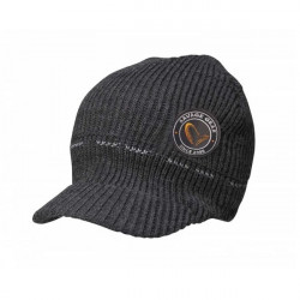 Fes tricotat negru cu cozoroc Savage Gear