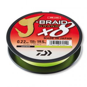 Fir textil Daiwa J-Braid Grand X8, Chartreuse, 135m