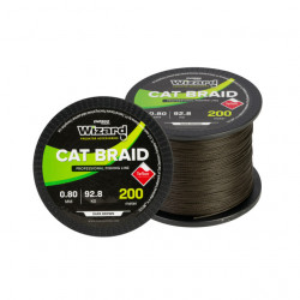 Fir textil EnergoTeam Wizard Cat Braid, maro-inchis, 200m