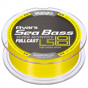 Fir Textil Varivas Avani Seabass PE Super Sensitive LS8, galben, 200m