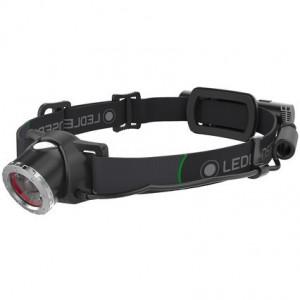 Lanterna cap reincarcabila MH10, 600 lumeni, USB, Husa, 2 filtre Led Lenser