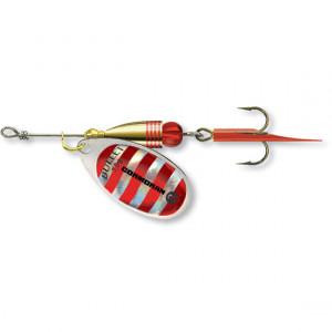 Lingurita rotativa Cormoran Bullet, Silver Red Stripes, nr. 2, 4g