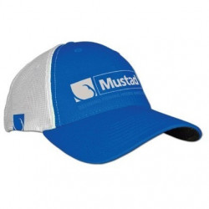 Sapca microfibra albastru /alb Mustad