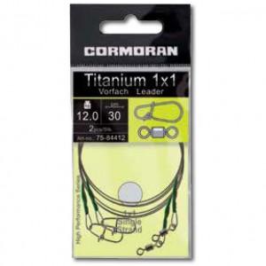 Struna Cormoran Titanium 1x1, 30cm, 8kg, 2buc