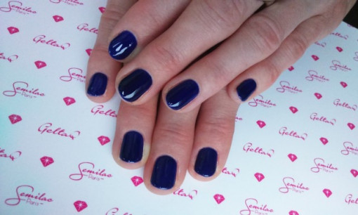 Poze Gel color Semilac 126 Queen of the Night