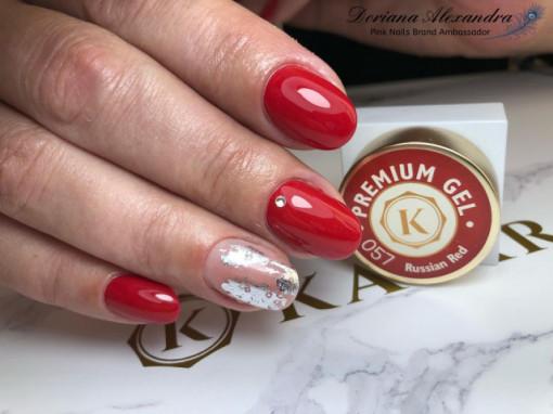 Gel color premium UV/LED Kayara 057 Russian Red
