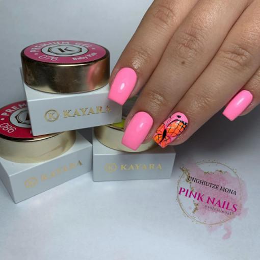 Gel color premium UV/LED Kayara 076 Baby Pink