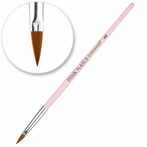 Pensula pentru acril #4 Pink Nails