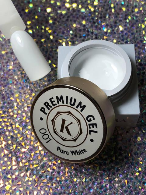 Gel color premium UV/LED Kayara 001 Pure White