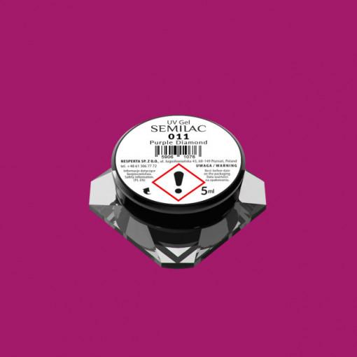 Gel color Semilac 011 Purple Diamond 5ml