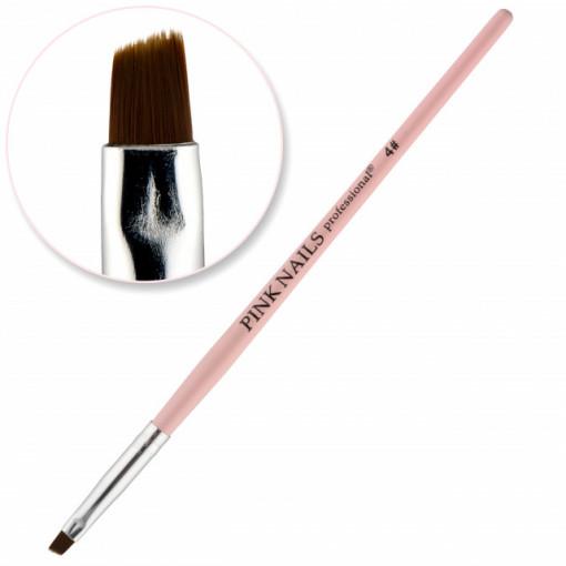 Pensula oblica #4 Pink Nails