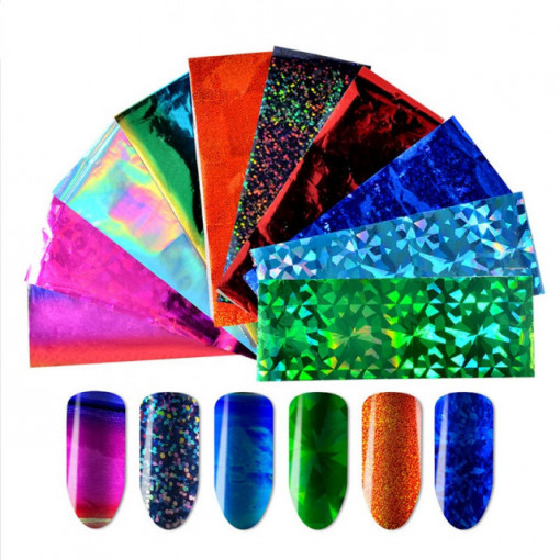 Set 10 folii de transfer Mix Colours