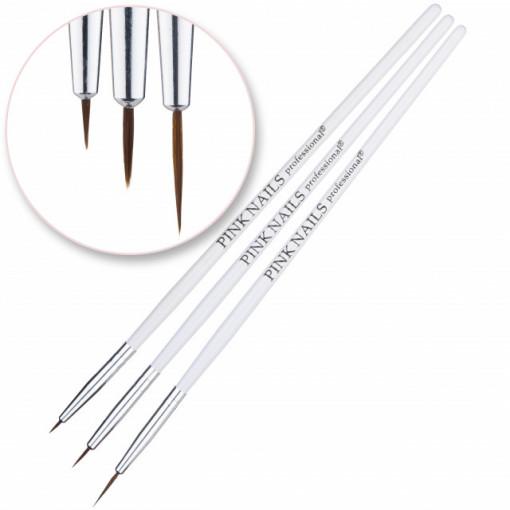 Set 3 pensule nail art - Pink Nails
