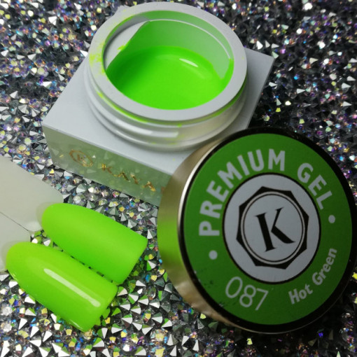 Gel color premium UV/LED Kayara 087 Hot Green