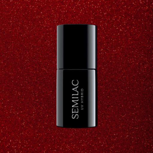 Semilac 347 Pretty Red Glitter 7ml