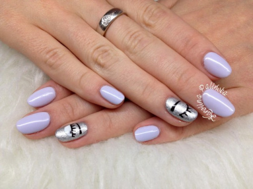 Gel color Semilac 127 Violet Cream