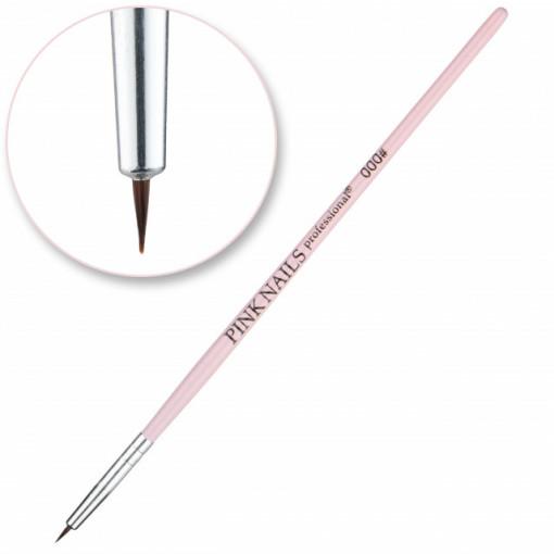 Pensula Nail art 000 Pink Nails